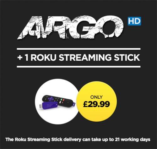 Argo plus 1 Roku Streaming Stick for £29.99 At Wuaki