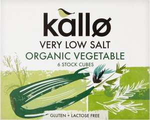 Kallo Very Low Salt Organic Vegetable / Beef / Chicken 6 Stock Cubes was £1.17 now 50p @ Morrisons