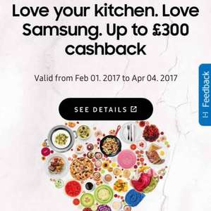 Love Samsung - Up to £300 Cashback