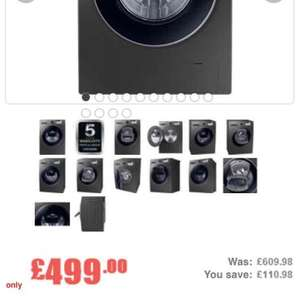 Samsung Addwash 9kg graphite £499 plus £100 cashback - £399 @ Appliances Direct