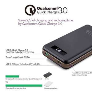 [Quick Charge 3.0 + USB-C] imuto 30000mAh Ultra High Capacity Portable Charger Power Bank External Battery with USB TYPE-C and Qualcomm QC3.0/2.0 Technology for Smartphones,Tablets, Nintendo, Macbook and More (Black) £42.49 Sold by imuto Direct and F