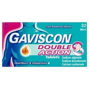 Gaviscon Tablets - Double Action x32 £2.88 instore @ Sainsbury's