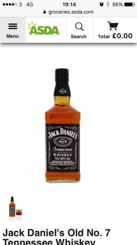 Jack daniels 70cl £17 @ asda
