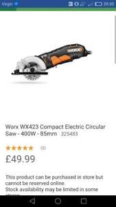 Worx Circular Saw /Power tool/ £49.99 instore DIy HOMEBASE