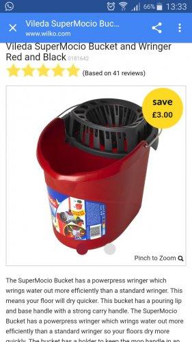 Vileda mop bucket £3 instore @ Wilkos