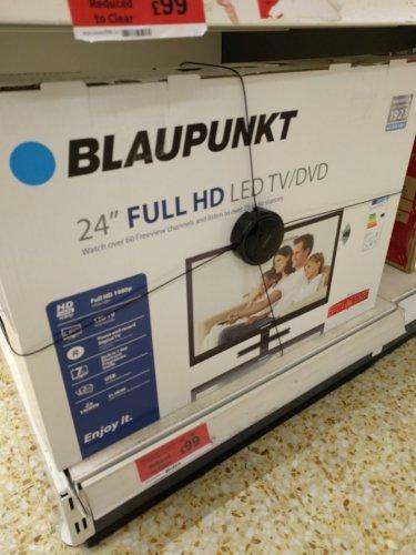 "Blaupunkt 24"" Full HD TV / DVD combo £99.99 @ Sainsbury's Harrogate instore"