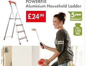 POWERFIX Aluminium Household Ladder £24.99 @ Lidl
