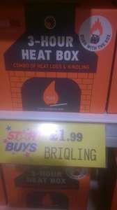 BRIQLING 3 hour heat box by woodensoul £1.99 IN HOME BARGAINS