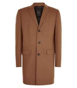 New Look Men's Wool Overcoat in Camel - only £29.94 Delivered at Amazon.co.uk