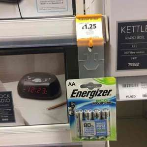 Energizer eco advance AA batteries pack of 4 reduced from £5 to £1.25 Tesco in store