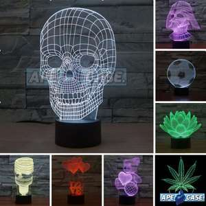3D LED LAMP | 7 COLOR CHANGE | FREE Postage | BUY 1, GET 1 AT 25% OFF £13.99 @ r.zelazinski2012 / Ebay