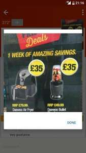 Daewoo Air Fryer and Daewoo   bullet £17.50 Instore  Poundland