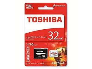 Toshiba Exceria M302 32GB Micro SD Memory Card 90 MB/s 4K - Free Delivery @ PicStop.  / Amazon