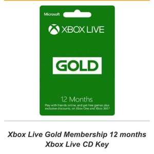 Xbox Live Gold Membership 12 months £33.99 @ Simply Games