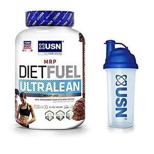 (Amazon) USN Diet Fuel Ultralean Meal Replacement Shake Powder - 2kg with USN shaker 700ml (Choice of 4 flavours) (17.99 Prime or  £22.74 non prime)