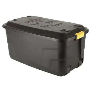145 litre stackable storage container with lid & wheels £12.99 (£7.95 delivery) @ The Range