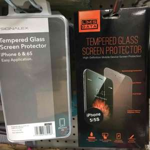 Tempered Glass Protectors for iPhone 5/5S and 6/6S £1 @ Poundland