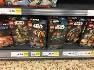Lego Star Wars Constructible Figures Ray £4, Poe £5.50 - Tesco Cleethorpes Instore