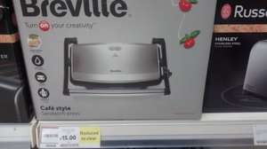 Breville Cafe Style Sandwich Press VST049 - £15 - Tesco Instore