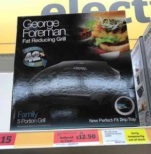 George Foreman Family Grill instore @ Sainsbury's - £12.50