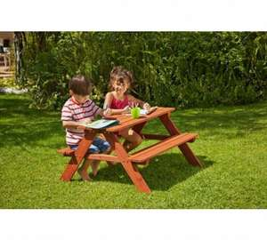 Chad Valley Wooden Picnic Bench £19.99 Was £39.99 Argos (Free C&C)