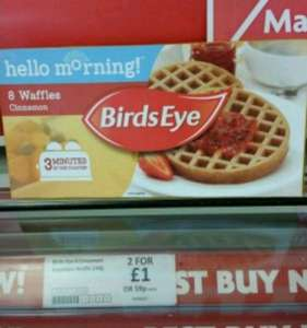 BirdsEye cinnamon waffles at Heron foods in Oldham 2 boxes for £1 instore @ Heron