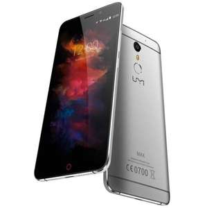 """UMIDIGI MAX 5.5"""" FHD Android 6.0 Unlocked 4G LTE Smartphone 4000mAh Fingerprint Scanner Helio P10 Octa Core Dual SIM-Free USB Type-C 13 Megapixel Camera 3GB RAM 16GB ROM WIFI Mobile Phone (Gray) £131.74 Sold by UMI DIGI and Fulfilled by Amazon."""