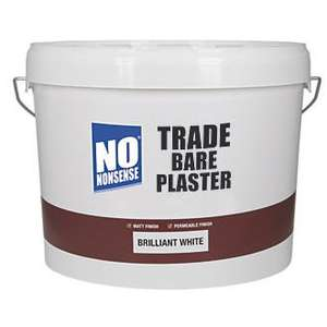 NO NONSENSE TRADE BARE PLASTER PAINT BRILLIANT WHITE 2 X 10LTR - £28 @ Screwfix
