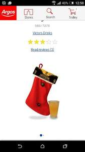 Victor's Drinks Santa Cider Stocking 10 Pint £5.99 @ Argos