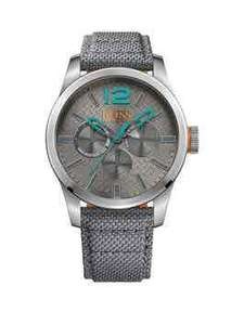 Hugo Boss Hugo Boss Paris Grey Dial Blue Accents Grey Strap Mens Watch Was £149.00 Now £119.00 @ Very