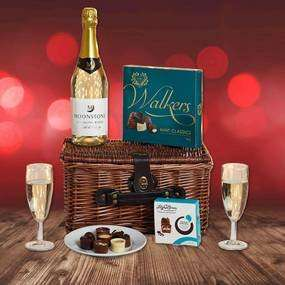 Valentines Hamper , (Wicker Basket, Sparkling Wine, Champagne Flutes & Two boxes chocolates) £15.00 + £3.95 P&P (£18.95) @ Dunelm