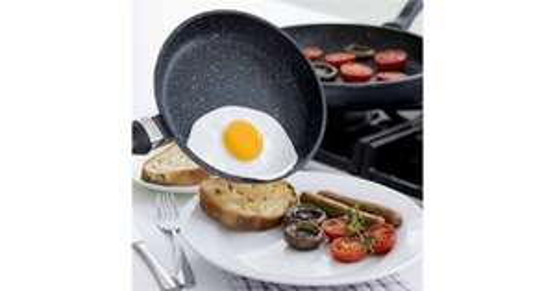 Regis Stone 28 cm Non-stick Frying Pan - Black & Grey £14.99 - Currys