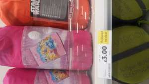 Disney princess and star wars children's sleeping bags £3 instore  @ Tesco - Gateshead