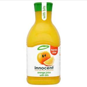 innocent orange juice with bits 1.35L (family size) for £1.25 at Herons