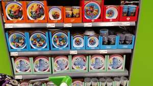 ASDA instore -Children characters plastic plates,tumblers, bowls and snack tubs £1 each Peppa, Thomas, Paw Patrol, Nightgarden, Blaze.