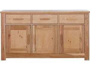 EDIT - Schreiber Harbury Large Sideboard Oak Fully Assembled was £499 now £150.94 delivered with code @ Argos