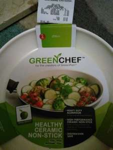 Green chef ceramic frying pan (28cm) and wok, instore @ Asda living, £12.50