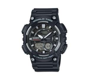 Casio World Time Telememo Black Combi Watch - Argos half price @ £24.99