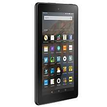 "Amazon Fire 7 Tablet, Quad-core, Fire OS, 7"", Wi-Fi, 8GB, Black, Black 8GB £34.95 / 16GB £44.95  @ JL + 2 year guarantee"