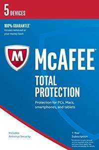 McAfee 2017 Total Protection - 5 Device (PC/Mac/Android) - £5.00 (Amazon)