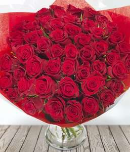 100 red roses for £49.99 excluding delivery - eflorist - plus cash back deal for another £20ish off
