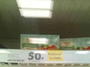 4 Haddock fishcakes 50p plus the Salmon ones were 50p as well Tesco instore