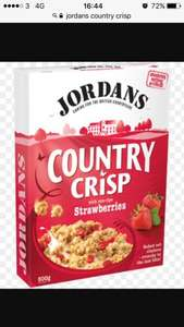 Jordan's country crisp strawberry cereal £1.39 @ iceland