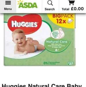 Huggies wipes 12pk £6 @ Asda