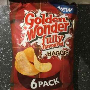 6 pack Golden Wonder Haggis Flavoured Crisps 50p @ Sainsbury's