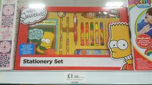 Official Simpsons stationery set rrp £9.99 - £1.99 at home bargains
