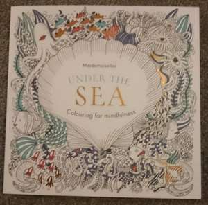 Under the sea colouring book, found at poundland  £1.00