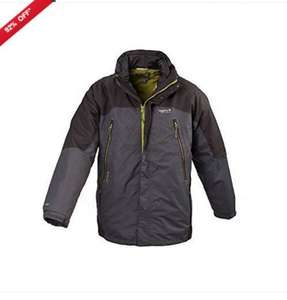 Regatta Hereford Mens Waterproof Breathable Hooded 3in1 Jacket Grey Size S - £9.99  eBay seller  portstewart-clothing-company