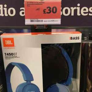 JBL T450BT Bluetooth headphones £30 Sainsburys instore