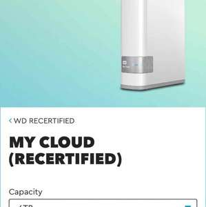 Recertified WD My Cloud 6TB - £129.99 @ WD